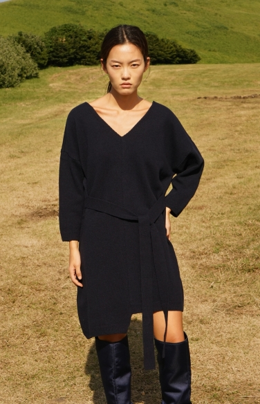 relaxed fit knit dress