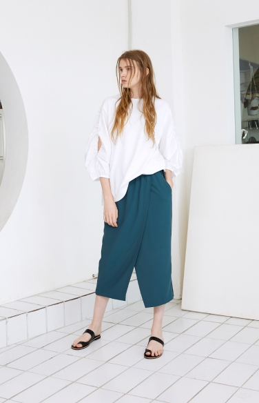 sleeve cord cotton blouse