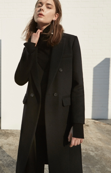 cashmere blend double breasted coat(백진희 조보아 박정아 착용)