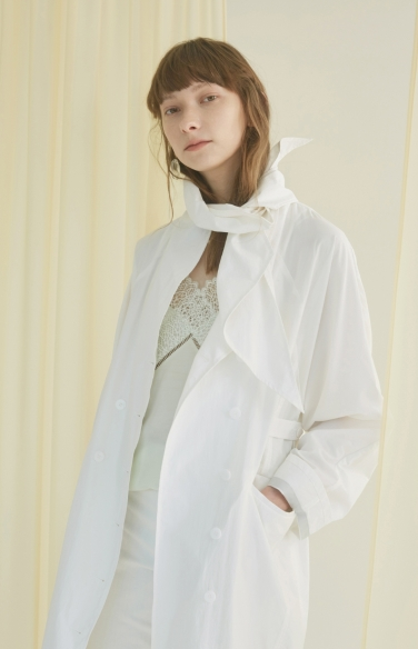 scarf collar trench coat